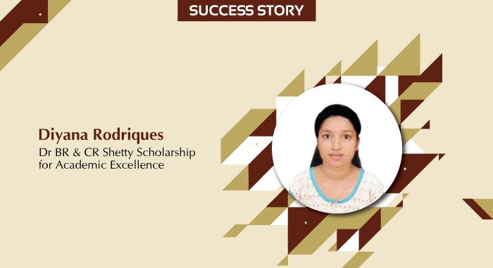 Dr BR & CR Shetty Scholar Story - Diyana Rodriques